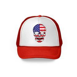 Awkward Styles Skull Trucker Hat USA Flag Hat Skull 4th of July Patriotic Gifts American Flag Hat USA Baseball Cap Patriotic Hat American Flag Men Women 4th of July Hat 4th of July Accessories