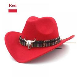 TINKER Ethnic Style Western Cowboy Hat Women's Wool Hat Jazz Hat Western Cowboy Hat