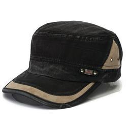 Unisex Adjustable Retro Style Army Plain Hat Cadet Military Baseball Cap Blue Black Beige