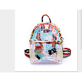 Girl Transparent See Through PVC Mini Backpack Cute School Book Bag Hot Vogue Laser Jelly Individuality Backpack Color Clear
