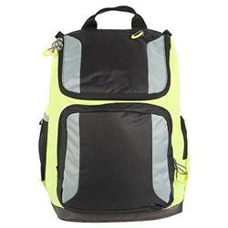"Embark 17"" Jartop Laptop Sleeve Backpack Book Travel School Bag Gray Black Yellow Green"