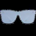 WearMe Pro - Polarized Full Mirror Flat Lens Square Modern Sunglasses