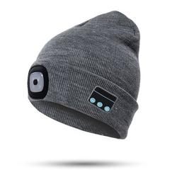 Bluetooth Beanie Hat with Led Headlight Lighted Beanie Cap Rechargeable with Wireless Bluetooth Winter Warm Knit Hat New