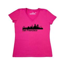 Inktastic San Francisco Skyline Adult Women's V-Neck T-Shirt Female