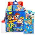 """Paw Patrol Backpack and Lunch Box Bundle Set ~ 7 Pc Deluxe 16"""" Paw Patrol Backpack, Lunch Bag, Water Bottle, Tattoos, and More (Paw Patrol School Supplies)"""