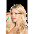 Naturally Rimless Eyeglasses 4964742 Rimless 53-17-135 Metal Frame Copper Clear Fashion Sunglasses For Women