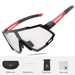 CVLIFE Polarized Sports Sunglasses Cycling Sun Glasses for Men Women Photochromic Cycling Sunglasses UV400 Anti-Fog Sports Eyewear Bike Goggles