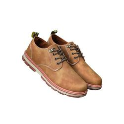 LUXUR Men's Artificial Leather Business Casual Dress Shoes Flat Round Toe Fashion Casual Shoes
