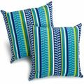 """Darby Home Co Menzies Outdoor 17"""" Throw Pillow Polyester/Polyfill/Polyester/Polyester blend in Blue, Size 17.0 H x 17.0 W x 8.0 D in 