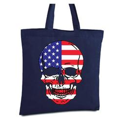 Awkward Styles USA Skull Tote Bag American Flag Canvas Tote Bag USA Gifts Patriotic Reusable Shopping Bag Skull Gifts Skull Tote Bag Patriotic Gifts for Men and Women America Shopper Bag USA Bag