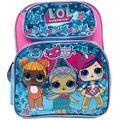 "L.O.L Surprise! Small School Backpack 12"" Girls Bag Pink LOL Bag Shine Blue"