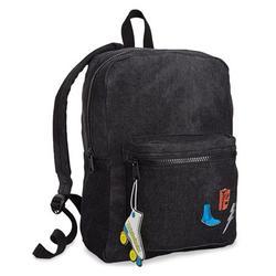 Girls Patch Denim Everyday Backpack