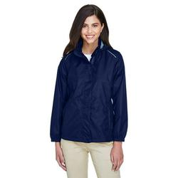Ladies' Climate Seam-Sealed Lightweight Variegated Ripstop Jacket - CLASSIC NAVY - L