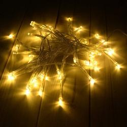 WholeSale Christmas LED Fairy String Lights, 50 LED Mini Bulb LED Battery Powered String Umbrella Lights Bedroom Ambient Decor Light String for Indoor Wedding Party Christmas Holiday Decor, Warm White