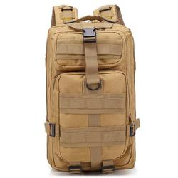 Outdoor Tactical Backpack, URHOMEPRO Multi-functional Military Tactical Backpack, Waterproof Oxford Cloth 30L Backpack for Men Women Youth Hiking Trekking, Assault Army Rucksack, Khaki, W8738