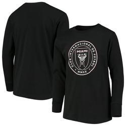 Inter Miami CF Youth Primary Logo Long Sleeve T-Shirt - Black