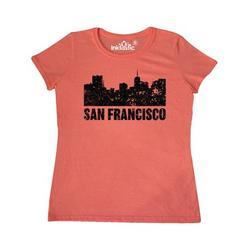 Inktastic San Francisco Skyline with Grunge Adult Women's T-Shirt Female