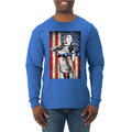 Freedom Marilyn Monroe Sexy Distressed American Flag Americana / American Pride, patriotic Shirt, American Shirt, Patriotic Shirt, fourth of july shirt, American Flag, USA Mens Long Sleeve Shirt