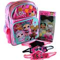 LOL Surprise 16 Inch Backpack Bundle with 6-pc Pop Hair Set and Goodies Glitterati Pink LOL Surprise LOL Backpacks for Girls LOL Remix