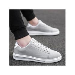 UKAP Breathable Canvas Flat Shoes Men Lace Up Casual Shoes Sport Shoes Walking Shoes