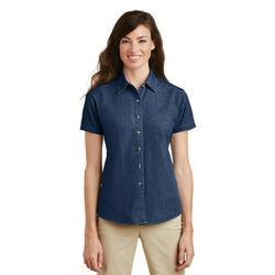 Port & Company Short Sleeve Value Denim Shirt (LSP11) Ink Blue, XL