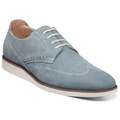 Men's Stacy Adams Walking Shoes Luxley Wingtip Suede Sky Blue 25448-450