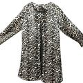 Cocloth Jacket Fashion New Women'S Winter Autumn Coat Warm Sexy Leopard Long-Sleeved Loose Temperament Casual Long Coat