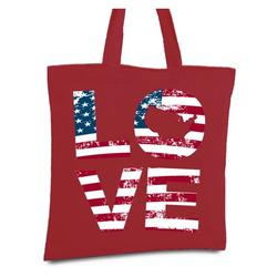 Awkward Styles Love Tote Bag American Flag Love Canvas Bag USA Gifts for Men and Women 4th of July Tote Bag Independence Day Reusable Shopping Bag Cute Love Grocery Bag America Reusable Cloth Bag