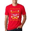 Happy Hanukkah Menorah Lit Mens Christmas T-Shirt