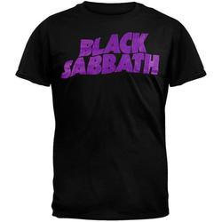 Official Black Sabbath Classic Logo Short Sleeve Black Band Graphic Tee