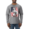 Freedom Marilyn Monroe Sexy Tattoos American Flag Music Americana / American Pride, patriotic Shirt, American Shirt, Patriotic Shirt, fourth of july shirt, American Flag, USA Mens Long Sleeve Shirt
