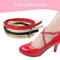 SPRING PARK 1 Pair Lady Detachable PU Leather Shoe Strap Lace Band for Holding Loose High Heeled Shoes