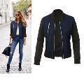 Women Zipper Up Flight Bomber Jackets Ladies Casual Coat Outerwear Autumn WInter Fashion Patchwork Jacket Plus Size S-3XL