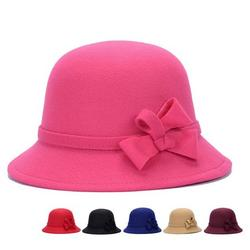 Visland Ladies Winter Wool Bucket Hat 1920s Vintage Cloche Bowler Hat Stylish Fedora Church Derby Dress Party Hat