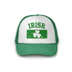Awkward Styles Irish Flag Trucker Hat Mesh Cap St. Patrick's Day Gift Ideas Saint Paddy's Mesh Cap Gift St. Patrick's Day Top Hat St. Patrick's Day Accessories Green Baseball Cap for Him and Her