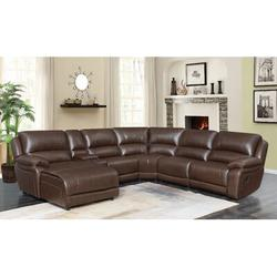"""Latitude Run® Arshika 163"""" Wide Right Hand Facing Reclining Corner Sectional Faux Leather/Polyester/Polyester Blend/Upholstery/Leather in Brown/Green"""