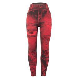 LELINTA Women Skinny Leggings Slim Denim Look Jeans Jeggings Stretchy Pants Trousers Pencil Jeans Printed Leggings