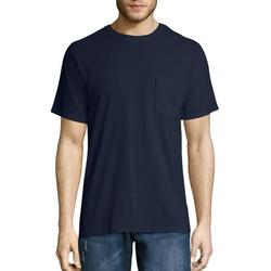 Hanes Men's and Big Men's Workwear Short Sleeve Pocket Tee (2-pack), Up To Size 4XL