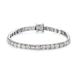 Shop LC Diamond 925 Sterling Silver Baguette White Tennis Bracelet Platinum Plated Jewelry For Women Ct 3.9
