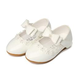 Hawee Dress-up Mary Jane Shoes Pearl Bowknot Dress Shoes (Toddler Girls & Little Girls & Big Girls)