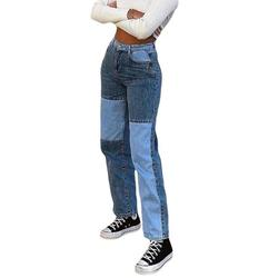 Colisha High Waist Casual Jeans For Women Flare Wide Leg Straight Denim Jeans Fashion Denim Long Pants Trendy Trousers Jeans Pants