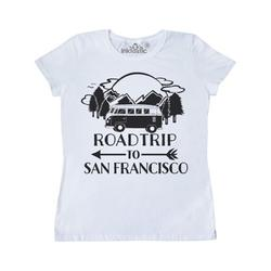 Inktastic Road Trip To San Francisco Adult Women's T-Shirt Female White S