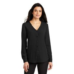 Port Authority Women's Long Sleeve Button-Front Blouse