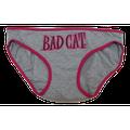 Bad Cat Women Juniors Panty Panties Underwear Intimates Hipster Brief (12, Grey)