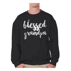Awkward Styles Best Father`s Day Gift Men Crewneck Blessed Daddy Dads Sweatshirt Cute Gifts for the Best Dad Crewneck for Dad Gifts for Grandpa Blessed Grandfather Father`s Day Gifts Ideas