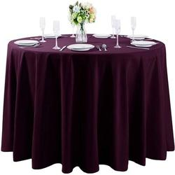 Eider & Ivory™ 108 Inch Round Tablecloth Washable Polyester Table Cloth Decorative Table Cover For Wedding Party Dining BanquetPolyester in Indigo