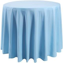 Eider & Ivory™ 108 Inch Round Tablecloth Washable Polyester Table Cloth Decorative Table Cover For Wedding Party Dining BanquetPolyester in Blue