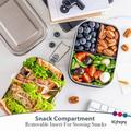 Prep & Savour Stainless Steel Bento Box Set – 2-Leak-Proof-Layer Silicone-Sealed Bento Lunch Box For Kids, Size 7.0 H x 5.0 W x 4.0 D in   Wayfair