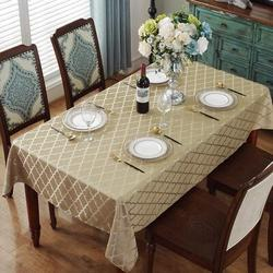 Rosdorf Park Jacquard Tablecloth Flower Pattern Polyester Table Cloth Spill Proof Dust-Proof Wrinkle Resistant Table in Yellow | Wayfair