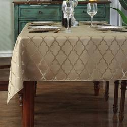 Rosdorf Park Jacquard Tablecloth Flower Pattern Polyester Table Cloth Spill Proof Dust-Proof Wrinkle Resistant Table in Yellow   Wayfair